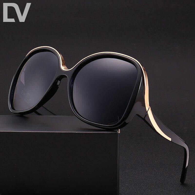 DV lunettes de soleil Polarisées femmes vintage Surdimensionné lunettes Brand Design Lunettes de Soleil Femme Lunettes D'été Oculos De Sol Shades 8987