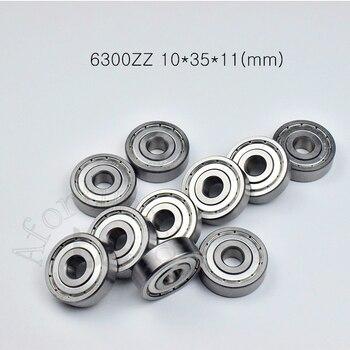 6300ZZ 10*35*11 (mm) 1 pieza rodamientos abec-5 cojinete sellado de metal rodamiento pared delgada de 6300 6300Z rodamiento de acero cromado