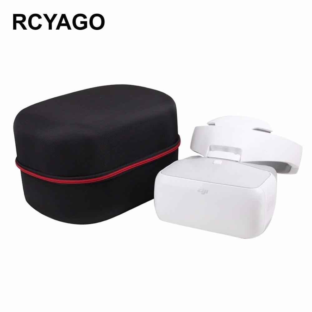 RCYAGO DJI FPV VR Goggles Storage Bag Flight Video Glasses Handbags Portable Storage Bag Black Waterproof