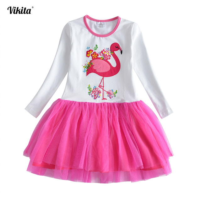 VIKITA-Girls-Vestidos-Autumn-Dress-2018-Animal-Cartoon-Princess-Dress-Girls-Flamingo-Clothes-Kids-Winter-Cotton.jpg_640x640