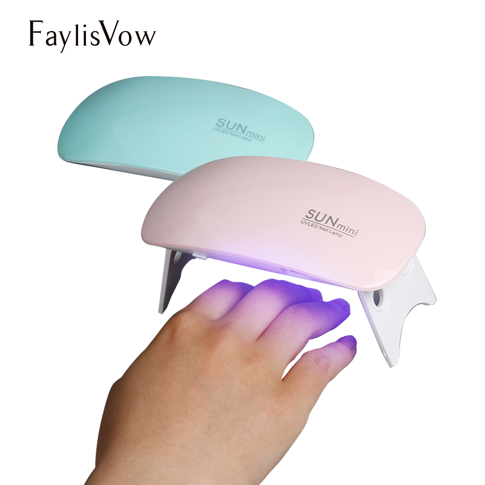 Sun Mini UV LED Lamp 6W LED Nail Dryer Mouse Gel Polish Lamp Suppliers USB Cable Portable Home Use Lacquer Dryer 4 Colors