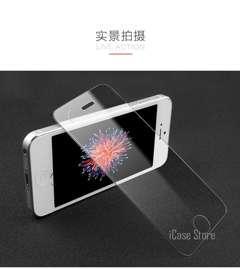 Heißer! 0,26mm 9H Explosion-proof Premium-ausgeglichenes Glas Für iPhone 5 5S SE 5G 5C Bildschirm anti Shatter Schutz Film Starke Paket