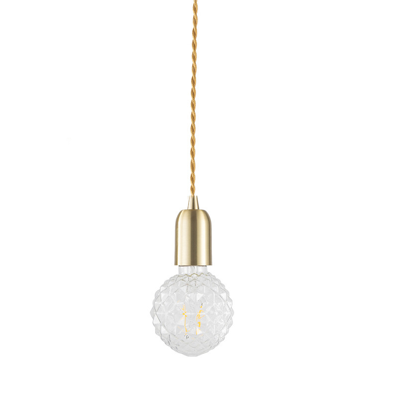 Loft Style Pure Copper Droplight Vintage LED Pendant Light Fixtures Creative Glass Pineapple Hanging Lamp Indoor Lighting