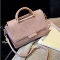 2017 Women's Handbag Retro Matte Portable Shoulder Messenger Bag PU Leather Solid Color Korean High Quality Free Shipping P346
