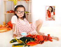 new cute plush lobster toy simulation red lobster doll gift about 46cm