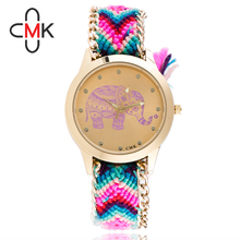 DHL UPS delivery waterproof top quality waterproof Braided rope Geneva Quartz Analog sweet colours Sports activities girls males watches 18