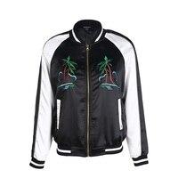 HDY Jacket Coat Woman 2019 Autumn Winter Bomber Jacket Embroidery Baseball Classic Jackets Coat Floral Bomber Jacket Women Sizes