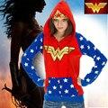 DC Wonder Woman Foil Crown Junior Hoodie Cosplay Anime S-2XL NEW Zipup Girl Coat Hooded