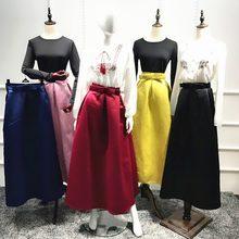 Moda mujer Tutu falda arco largo bola de la falda de la princesa elegante  modesto musulmanes pantalones tobillo-longitud Partido. 3b39ae24c547