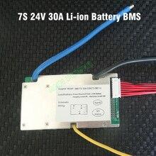 7 S 25.9 V 30A lityum polimer pil BMS 30A sürekli 100A tepe akımı 500 800 W 24 V 30A li ion pil BMS denge fonksiyonu