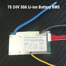 7S 25.9V 30A lithium polymer battery BMS 30A continuous 100A peak current 500 800W 24V 30A li ion battery BMS balance function