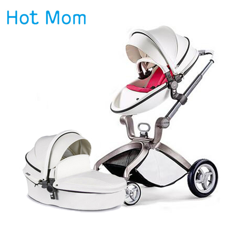 Hotmom baby stroller Eco-leather 2 in 1 B 3 in 1 B light weight four shock absorbers Russia free shipping все цены