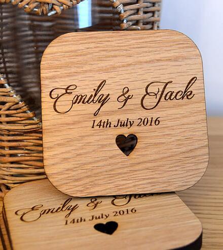 Nombre de madera Personalizado Unicornio boda tarjetas de lugar aniversario