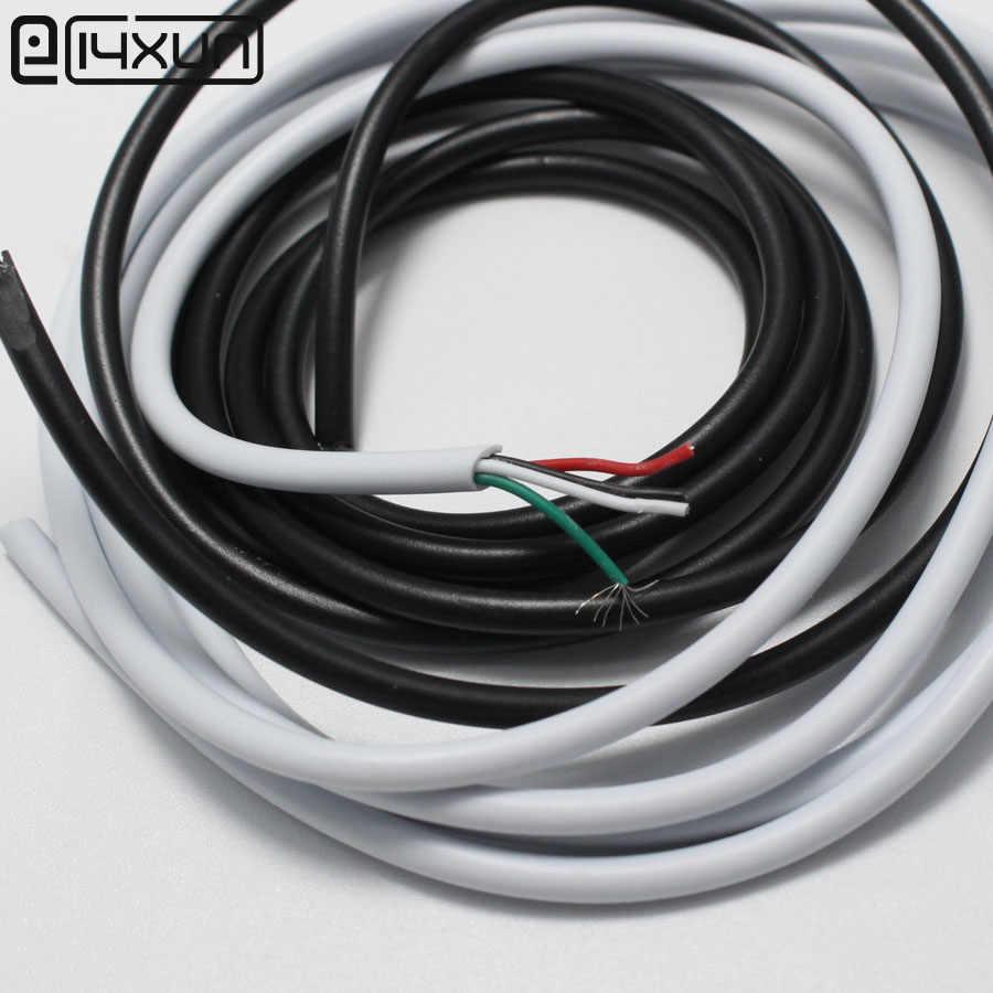 4 ב 1 שחור לבן חוט 10 מטר כבל נתונים USB DIY conenctor שקע תקע tablet טעינת כבל החשמל עבור טלפון ect