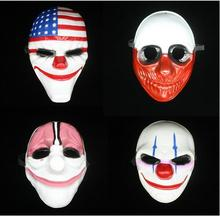 Hihg Quality PVC payday 2 Mask Chains Dallas Hoxton Wolf Electronic Games Theme Halloween party Gift free shipping
