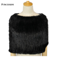 Furcharm New Mink Fur Shawl Women Real Luxury Solid And Patchwork Party Ceremony Russian Multifunctional Wrap Natural Fur Shawl