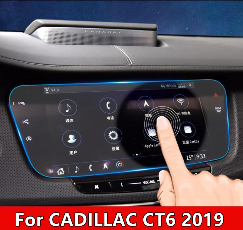 Car Tempered Glass GPS Navigation Screen Guard Protective Film LCD Screen Sticker For CADILLAC CT6 2019 Accessories