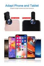 Fisheye Objektiv 3 In 1 Linsen Handy Clip Objektiv Weitwinkel 0.67X Objektiv Makro Objektiv 10 Zeit Makro für IPhone Xiaomi Huawei Lenovo
