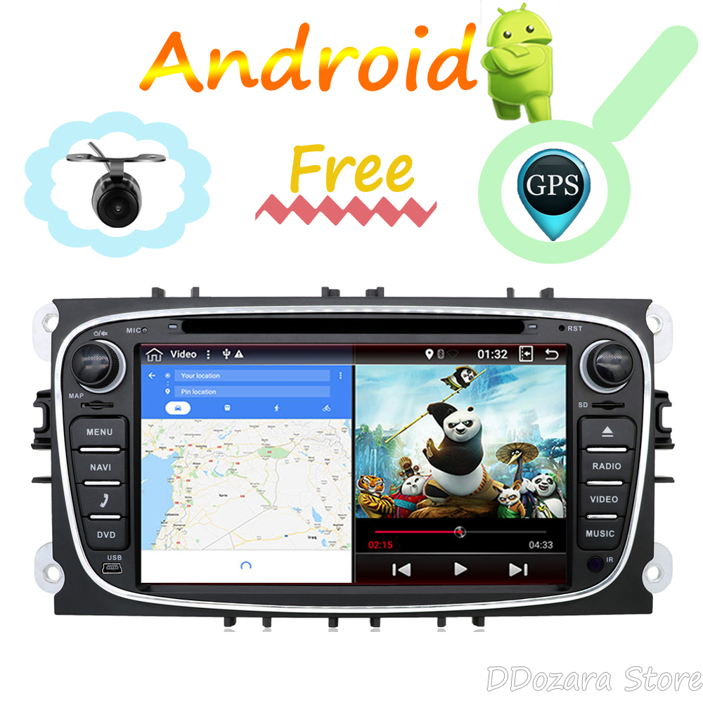 2 din Car DVD GPS for FORD Focus S-MAX Mondeo C-MAX Galaxy 2G RAM Android 8.0 Quad Core Car Multimedia Player stereo audio
