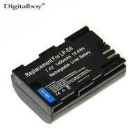 New Rechargeable Lightweight Li Ion 7 2v 2100mAh LP E6 LP E6 LPE6 Camera Battery For