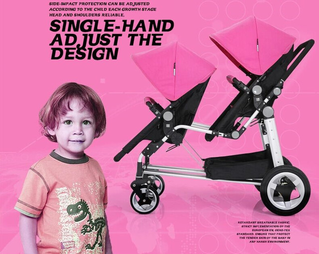Hot Searchs Twin Prams Best Looking And Service Twins Infant Stroller Multi States to Adjust for Baby Foldable Buggy Wholesale