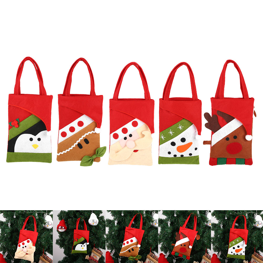 Novelty Christmas Candy Bag Non-woven Gifts Dessert Storage Pouch Holder