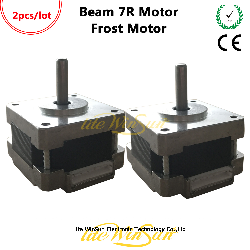 Litewinsune 2PCS FROST Step Motor 39H-25-19 for Beam 7R 230W Moving Head Stage Lighting Replace Accessory FREE SHIP frost frost falling satellites 2 lp cd