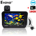Free Shipping!Eyoyo 20m Fish Finder DVR Video Record 6 Infrared LED Underwater Fishing Camera+Overwater Camera+Free 16GB TF Card