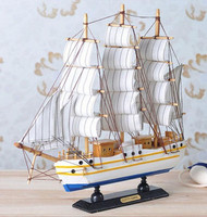 New Handmade Wooden Ship Model Pirate Sailing Boats Toys For Children Home Decor not Removable