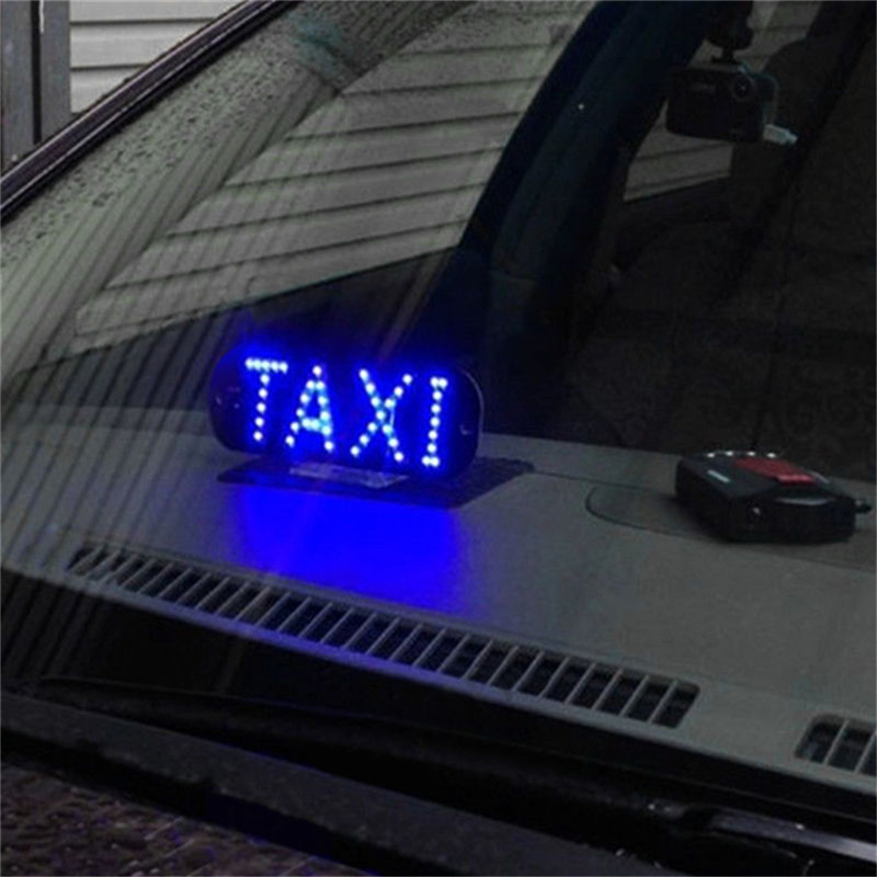 New 12v 45 Led Car Taxi Led Neon Board Light Windscreen Cab Indicator Lamp Sign Bulb Windshield Taxi Roof Led Top Light Lamp Automobiles & Motorcycles Car Lights