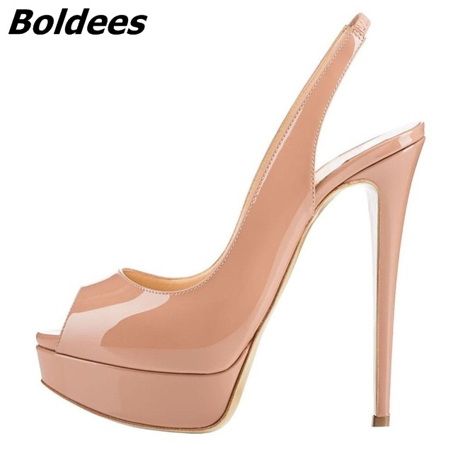 Slingback Thin High Heels (5)