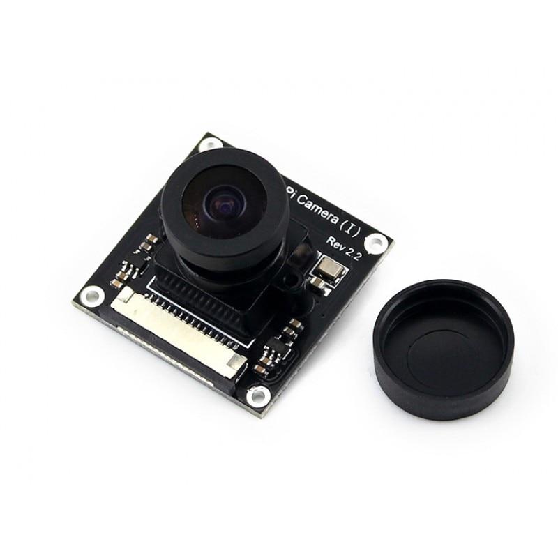 Waveshare Raspberry Pi Camera (I) for RPi A /B /B+/ 2 B/3 B Adjustable Focal Length Fisheye Lens Wider Field of View Module Kit