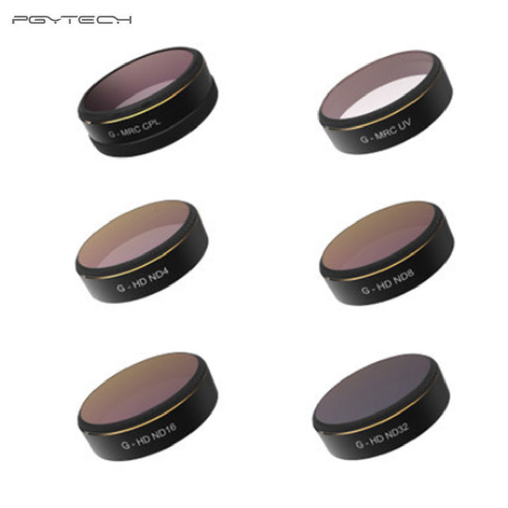 PGYTECH For DJI phantom 4 Pro Accessories Lens Filters UV/ND4/8/16/32/CPL gradual HD Filter Drone gimbal RC Quadcopter parts Set pgy fpv skin for dji inspire1 5d carbon fiber waterproof uv decals stickers set quadcopter drone rc parts accessories