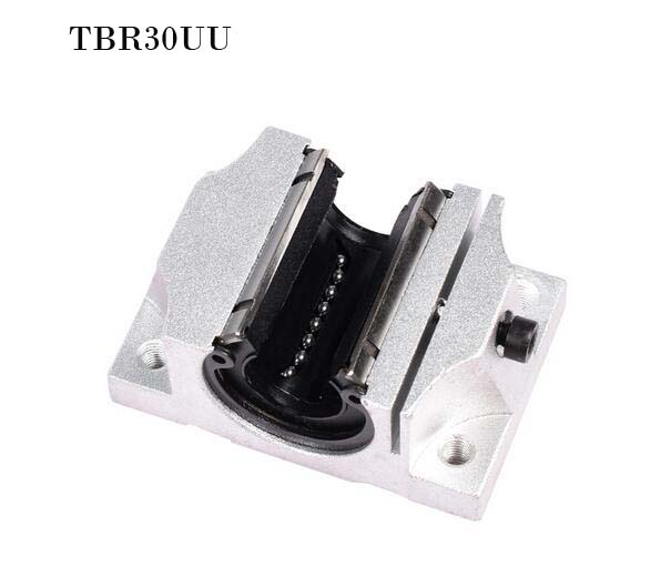 (1 PCS) TBR30UU (30mm) Linear Ball Bearing Support Unit Solide Block FOR CNC 1pc tbr30uu 30mm linear blocks router table linear motion ball slide unit tbr30