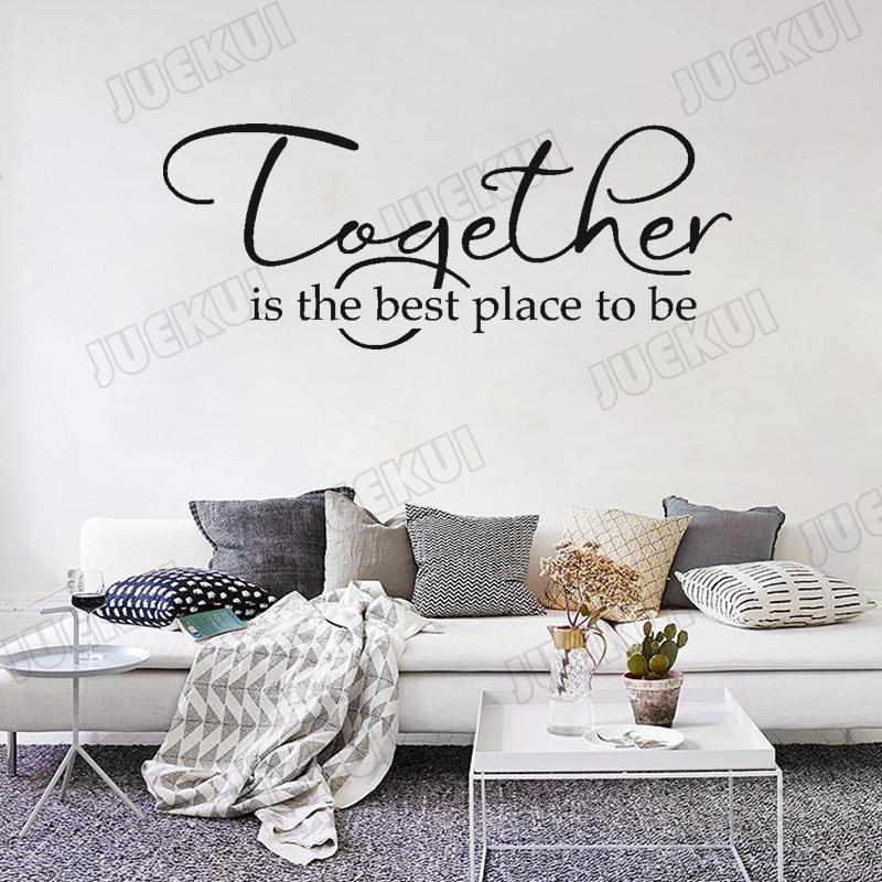 Best Place For Home Decor: Together Is The Best Place To Be Lettering Pattern Vinyl