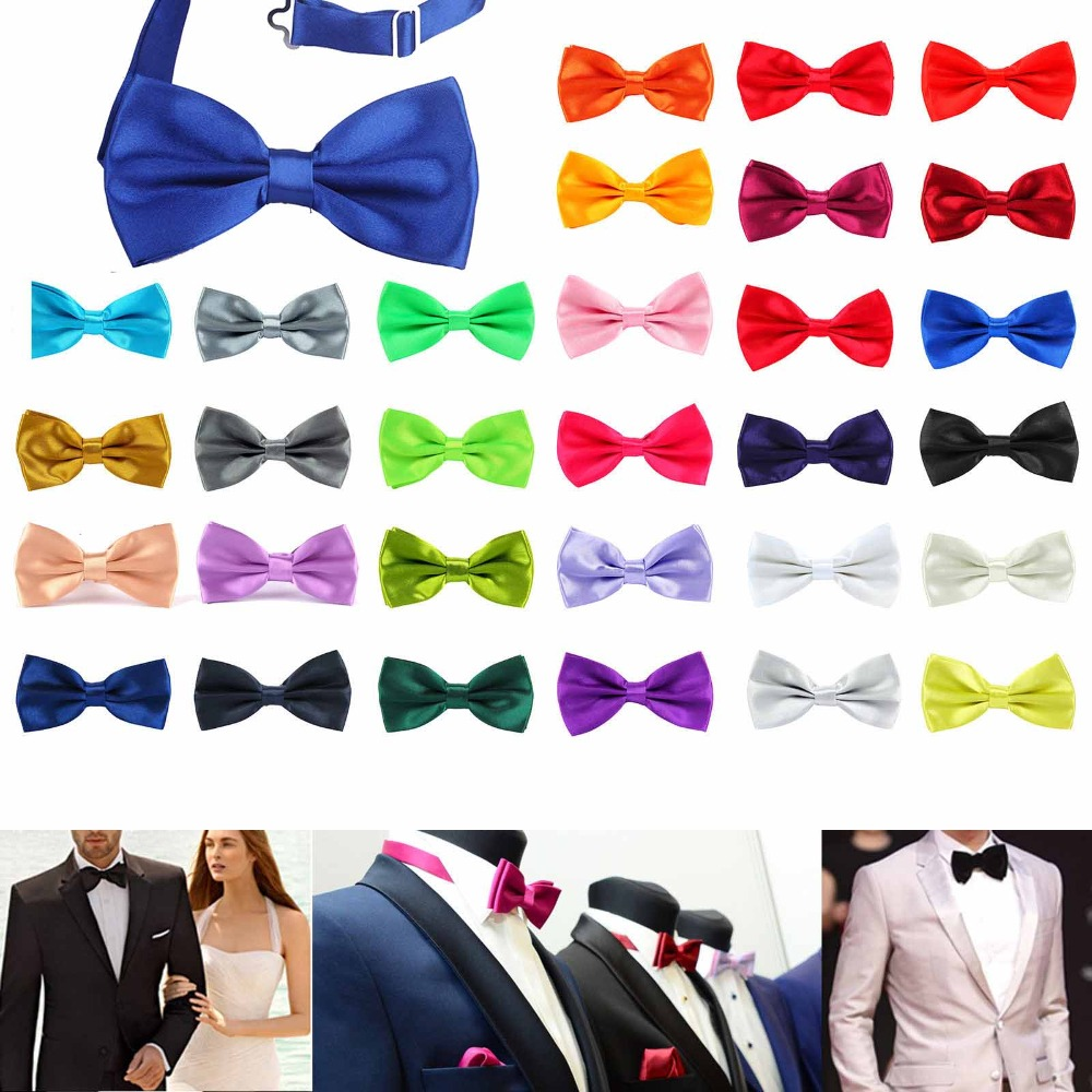 1PC Gentleman Men Classic Satin Bowtie Necktie For Wedding Party Adjustable Bow tie