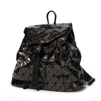 New Bao Backpacks Women Geometric Shoulder Bag Student's School Bag Hologram backpack Laser silver backpack mochilas With Logo