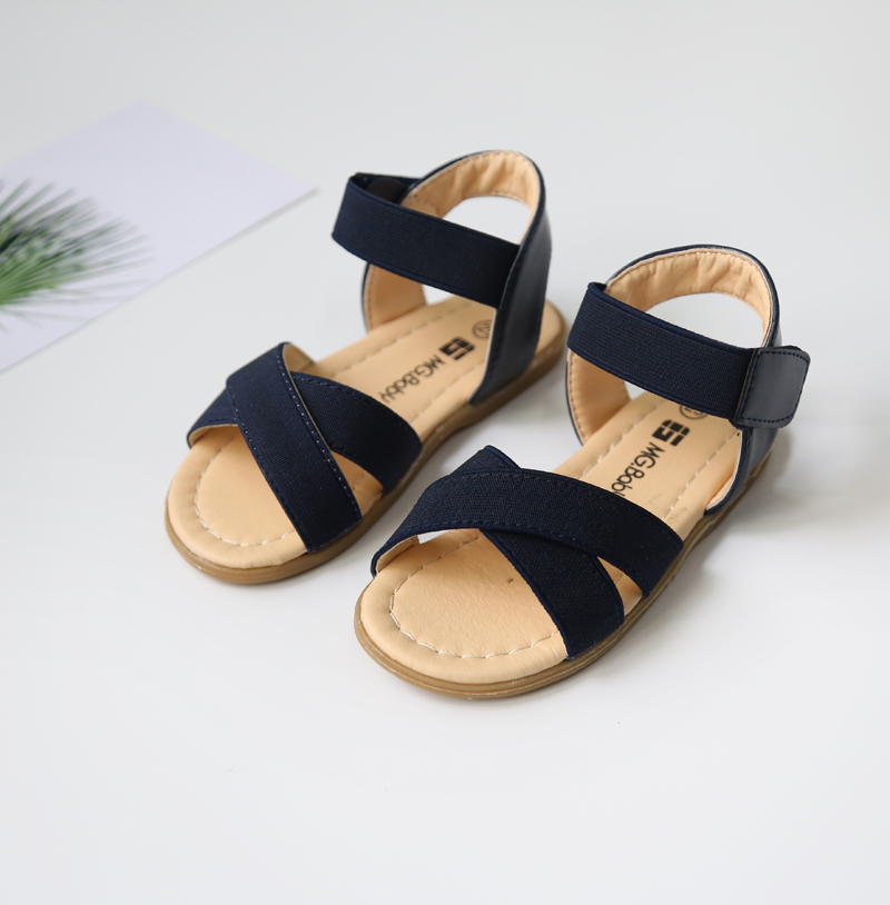 Retail Summer New Sandals Girls Fashion Shoes Comfortable Rubber Belt Open Beach Sandals Size 21 30