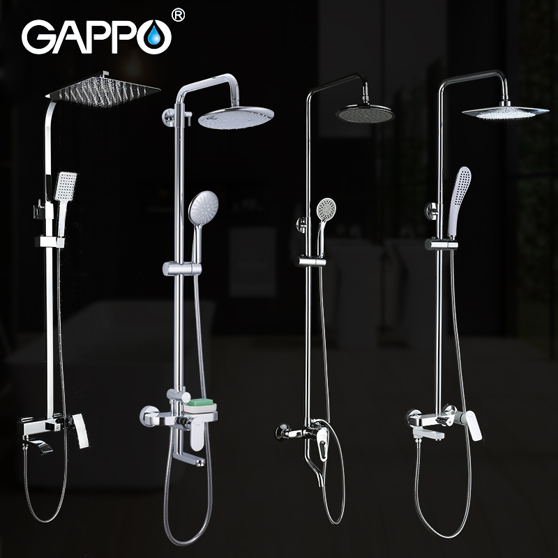 GAPPO Bathtub Faucets bathroom bathtub faucet bath shower mixer faucet taps rain shower head set waterfall