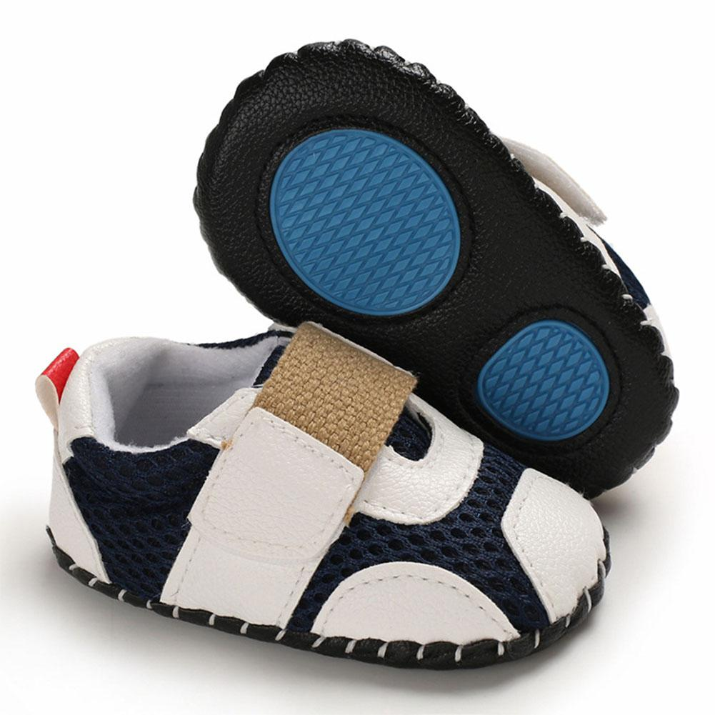 0 1 Years Baby Infant Boys Soft Rubber Sole Shoes Sports Mesh Cloth Breathbale Shoes with Magic Sticker in First Walkers from Mother Kids