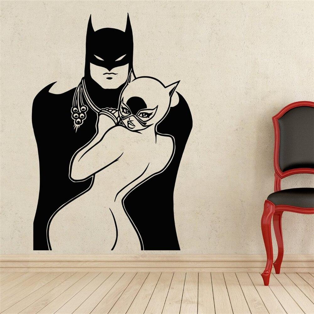 Popular Batman And Batgirl Wall StickersBuy Cheap Batman And - Batman vinyl decal stickers