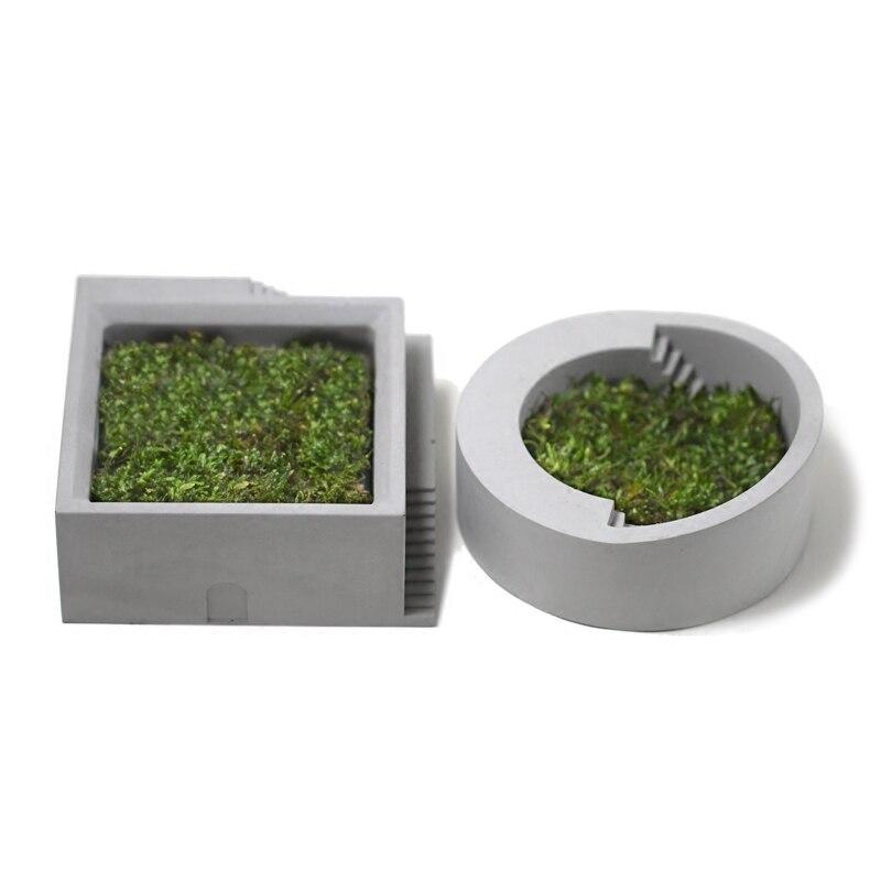 Лестницы в форме цемента суккуленты растения ваза силиконовые формы микро пейзаж ремесло украшения дома заливка бетона кашпо плесень
