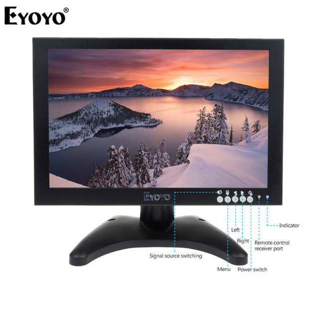 "Eyoyo EM10C 10 ""монитор FULL HD 1920*1200 HDMI ЖК-мониторы с HDMI VGA Видео Аудио CCTV монитор"