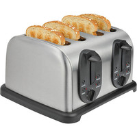 Stainless steel four Slice Toaster household bread baking machine kitchen appliance bread toaster oven for breadfast cooker