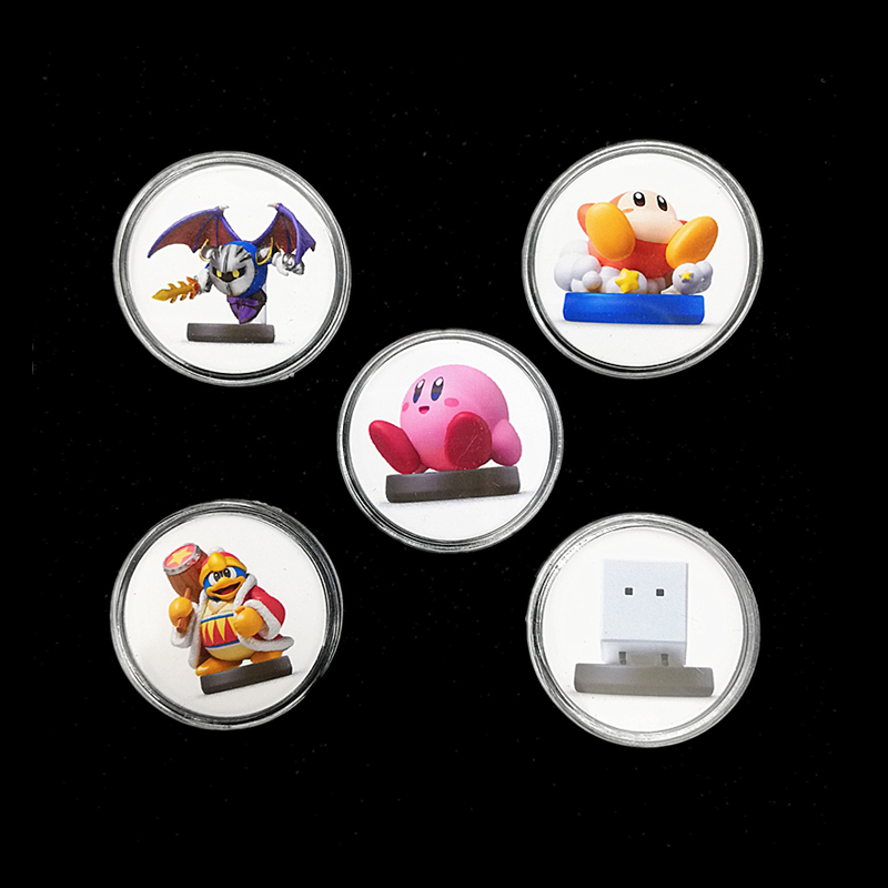 5Pcs New Data Kirby Star Allies For Amiibo Game Card Collection NFC Ntag215 Sticker Coin Tag Set 2019 Boybox Data Fast Shiping