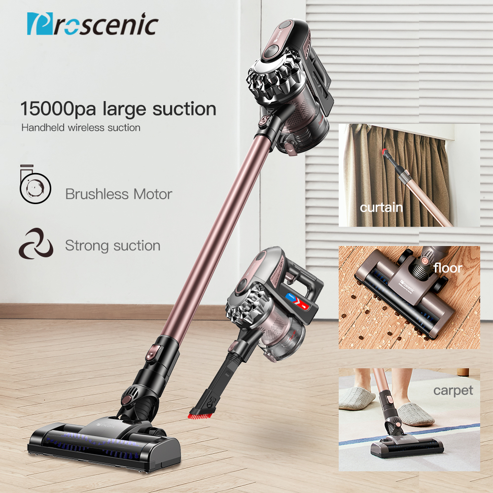 Proscenic 2 Em 1 P8 PLUS Protable Handheld Sem Fio Cordless Vacuum Cleaner Cyclone 15000Pa Forte Sucção do Coletor de Poeira