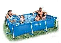 Большой Размеры прямоугольная рамка бассейн рыбы синий экологически ПВХ Семья бассейн забавные оборудование для водных видов спорта 260*160*65