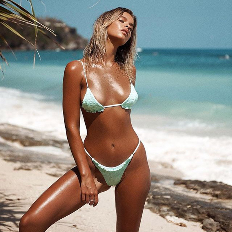HTB1zKf6h8HH8KJjy0Fbq6AqlpXa9 Biquini Bandeau Sexy Pleated Bikinis Women Swimsuit Swimwear Female Brazilian Push Up Bikini 2018 Set Beach Wear Bathing Suit