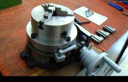 HV6 Rotary Table Indexing Head Vertical Horizontal Indexing Plate With Chuck Milling Machine Rotary Table HV6
