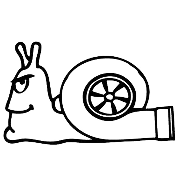 136cm82cm Turbo Snail Fashion Cute Vinyl Decals Motorcycle Car
